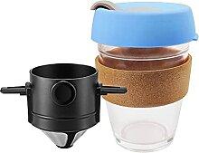 CXWHYPD Filtre à café portable acier inoxydable