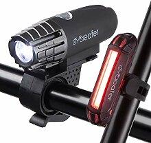 Cycleafer® Éclairage Vélo Bicyclettes VTT USB