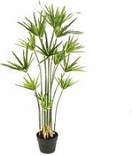 Cyperus Papyrus artificiel en pot, vert, 105 cm -