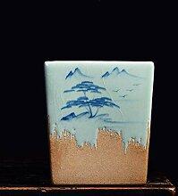 CYQ Pot de Fleur carré charnu en céramique