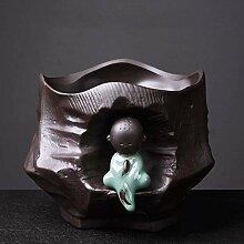 CYQ Pot de Fleur Vert créatif en céramique Sable