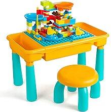 Czemo Table de Construction Enfants, 6 en 1 Table