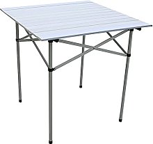 CZYNB Table de camping pliante en aluminium,