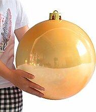 d'or Décoration Boule De Noel, Plastique,