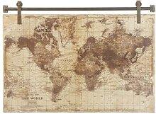 Déco murale imprimé carte du monde