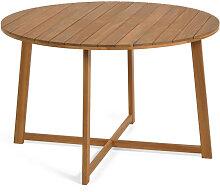Dafna - Table à manger de jardin ronde en bois