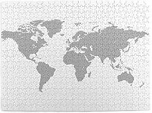 DAHALLAR Taille Moyenne Puzzles 500 Pièces,Carte