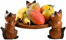 Daily Accessories Solid Wood Fruit Plate Creative