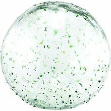 Daisy Gees Grande boule en verre vert à pois
