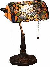 DALUXE Lampe de Table de banquier Antique de Style