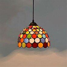 DALUXE Lampe Suspendue de Plafond Tiffany avec 20