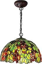 DALUXE Lampe Suspendue en Verre taché de Style