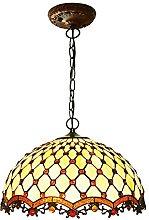 DALUXE Lampe Suspendue Suspendue de Style Tiffany,