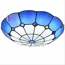 DALUXE Plafonnier à LED encastré Bleu