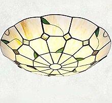 DALUXE Plafonnier affleurant de Style Pastoral LED