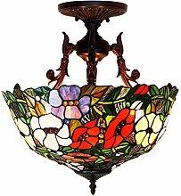 DALUXE Tiffany Lampe De Style De Plafond pour