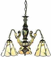 DALUXE Tiffany Style Lustre à 3 Lumières/Bras de