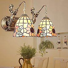 DALUXE Tiffany Style Verre taché Lampe