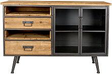 Damian - Buffet vintage en bois et métal