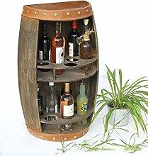 DanDiBo 9001-R Étagère à vin en bois Marron