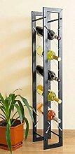 DanDiBo Designer Casier à vin Pit 100cm en métal