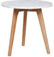 DANISH - Table d'appoint plateau en marbre