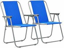 Daonanba 2 Pcs Chaise Pliable Chaise Pliante