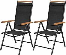 Daonanba 2pcs / 4 pcs Chaise Pliable Chaise