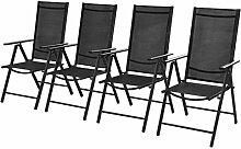 Daonanba 4pcs Chaise Pliable Chaise Pliante Chaise