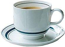 DAQ Tasses à café Ensemble de Soucoupe Tasse à