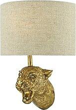 DAR RURI - Applique murale léopard dorée avec