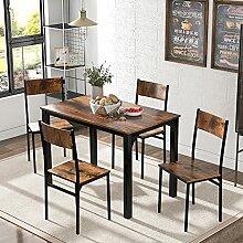 Dawns Ensemble table de salle à manger avec 4