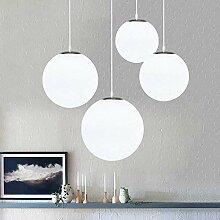 DAXGD Lustre boule en verre, Lampe suspension,
