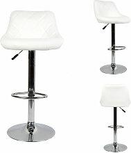 DazHom® 2 Chaise de bar cuillère blanche