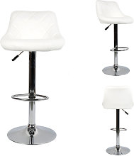 DazHom® 8 Chaise de bar cuillère blanche