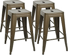 DazHom® Chaise haute empilable 4 pièces 61 * 40