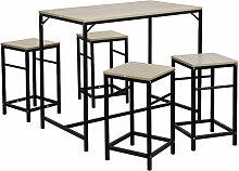 DazHom® Un ensemble de 4 chaises de salle à