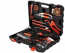 Dazone Kit de 12 outils de jardin avec mallette de