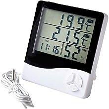 DBFHC Grand Écran LCD Horloge Domicile Minuteur