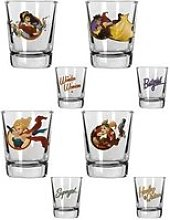 Dc comics bombshells - set 4 verres àliqueur