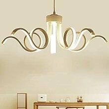DC Wesley Chandelier Blanc Lampe De Salon Simple