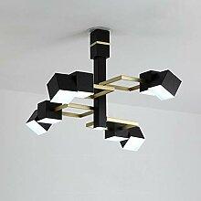 DC Wesley Lampe De Plafond Noir Salon Chambre