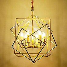 DC Wesley Moderne Simple Carré LED 6 Source De