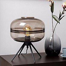 DC Wesley Verre Brun UFO Lampe De Bureau 29 * 29 *