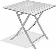 DCB GARDEN Marius Table de Jardin, Aluminium,