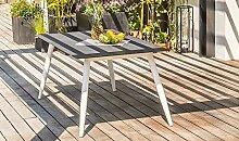 DCB GARDEN Scandi Table de Jardin, Aluminium,