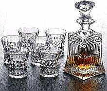 DDSGG Lot de 5 carafes à whisky en cristal avec 4