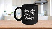 De vrais hommes jouent du banjo - tasse à thé