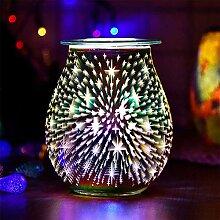 DEBEME Lampe d'ambiance en verre 3D en forme