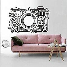 Décalcomanies murales pour appareil photo